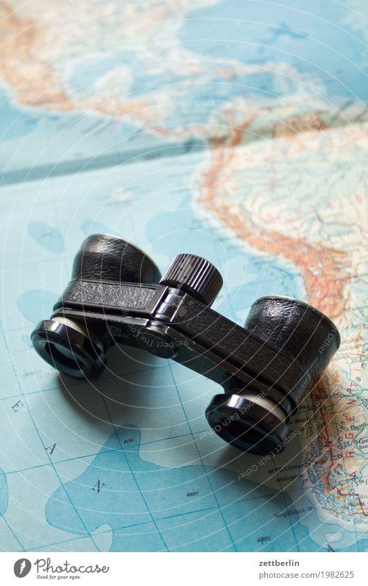 Weltreise beobachten Globus Expedition Fernglas Globalisierung Landkarte Kontinente Erwachsenenbildung Atlas Landschaft Opernglas Ferien & Urlaub & Reisen