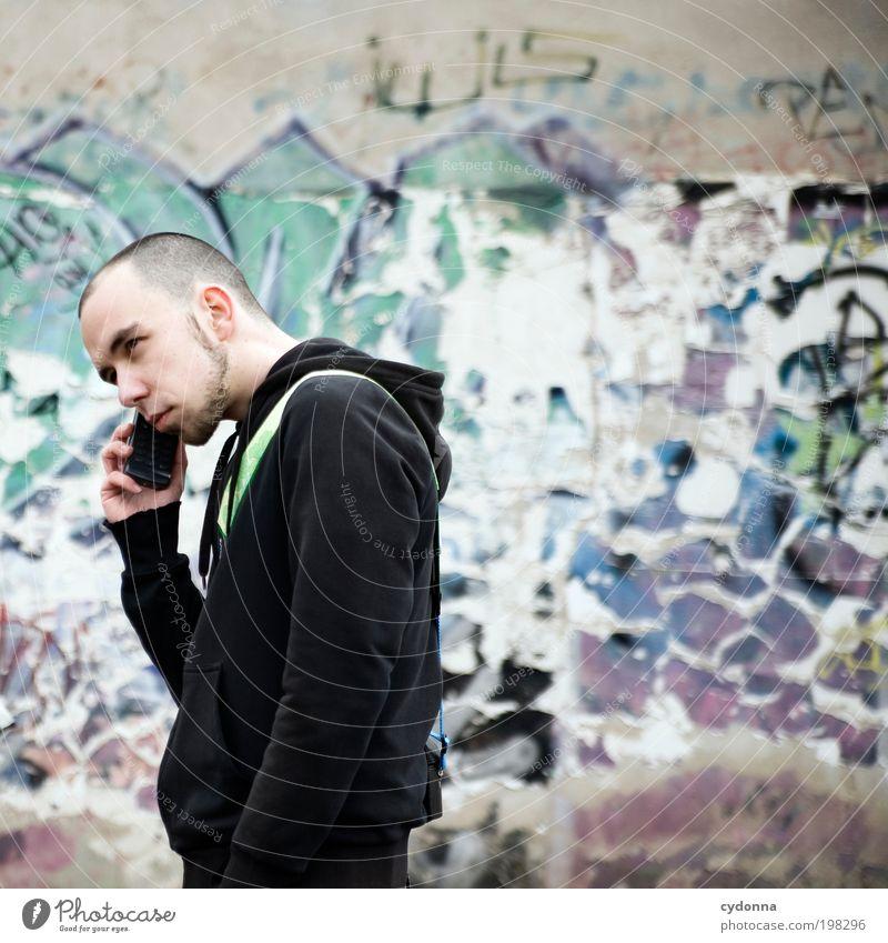 [HAL] LO? Mensch Mann Jugendliche Stadt Erwachsene Leben Graffiti sprechen Stil Freizeit & Hobby Design Erfolg Aktion Telefon planen Lifestyle