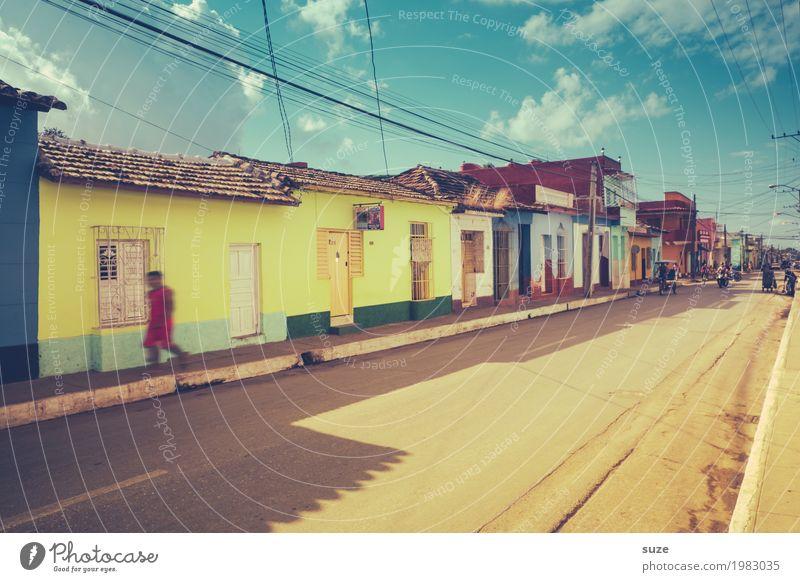 Farbenfrohes Trinidad Ferien & Urlaub & Reisen Stadt Haus Wärme Straße Fassade retro Fröhlichkeit Freundlichkeit Vergangenheit Sommerurlaub Städtereise Flair