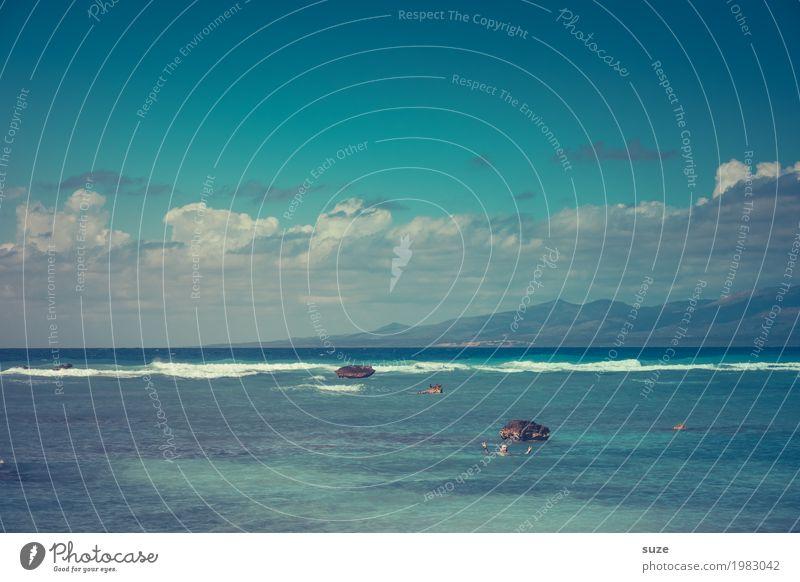 Winke Winke aus dem Meer exotisch Zufriedenheit Schwimmen & Baden Ferien & Urlaub & Reisen Tourismus Sommer Sommerurlaub Sonnenbad Wellen Mensch maskulin Mann