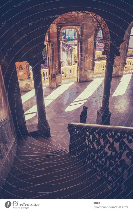 La Guarida Ferien & Urlaub & Reisen alt Haus Architektur Innenarchitektur Gebäude Kunst Treppe retro Kultur Armut Vergänglichkeit Wandel & Veränderung