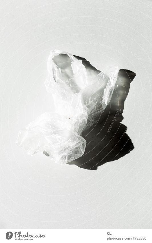 was zur verfügung stand / plastiktüte weiß grau ästhetisch einfach Kunststoff Müll Leichtigkeit Tüte Verpackung Plastiktüte Müllentsorgung