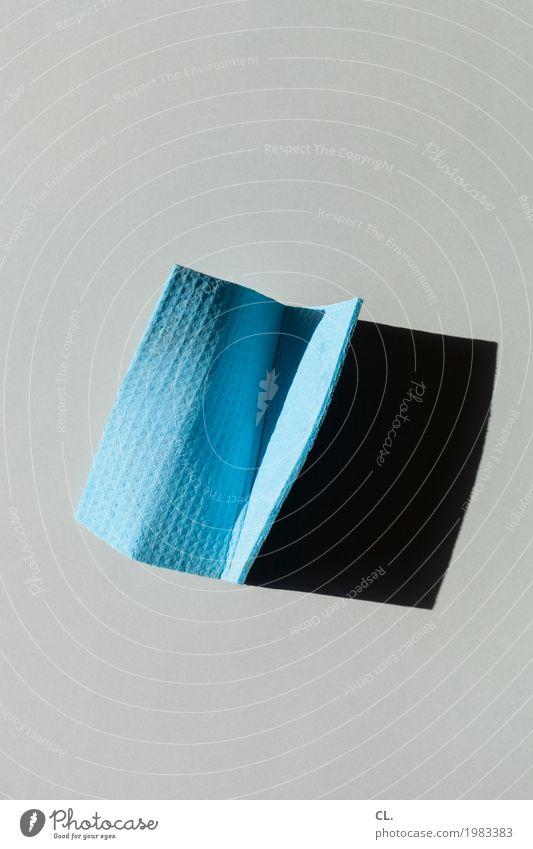 was zur verfügung stand / spültuch (trocken) blau grau ästhetisch einfach Alltagsfotografie normal Putztuch