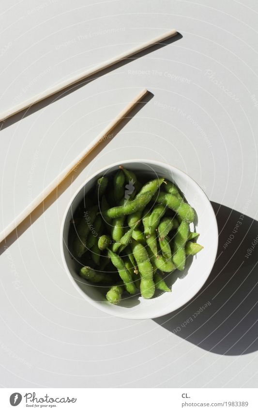 was zur verfügung stand / edamame grün Gesunde Ernährung Essen Lebensmittel grau ästhetisch lecker Gemüse Bioprodukte Geschirr Schalen & Schüsseln