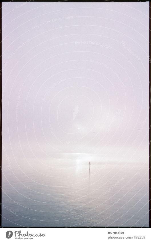 Morning Sea Natur Wasser Ferien & Urlaub & Reisen ruhig Ferne Freiheit träumen Landschaft Wellen glänzend Nebel Horizont Ausflug Abenteuer Tourismus Klima