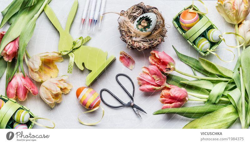 Ostern Dekoration basteln. Stil Design Häusliches Leben Innenarchitektur Dekoration & Verzierung Feste & Feiern Natur Frühling Blume Tulpe Blumenstrauß Zeichen