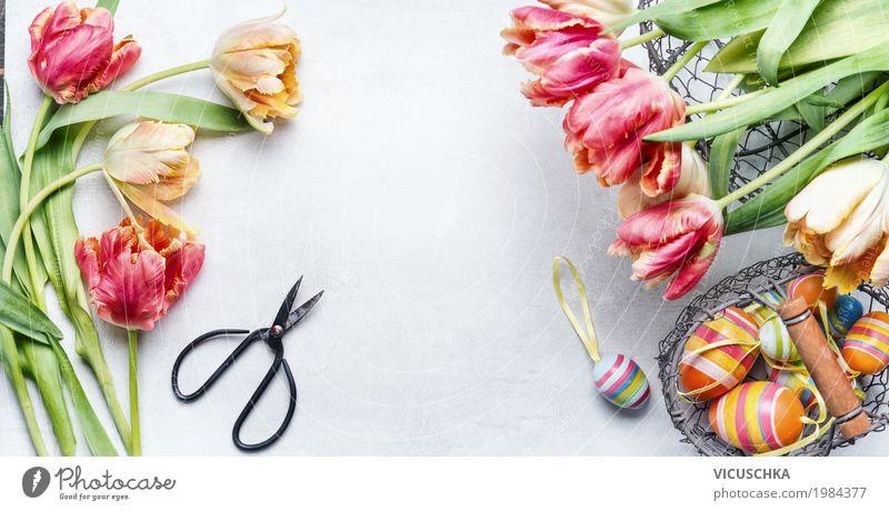 Ostern Dekoration basteln Natur Pflanze Blume Liebe Hintergrundbild Stil Feste & Feiern Design rosa Häusliches Leben Dekoration & Verzierung Blumenstrauß