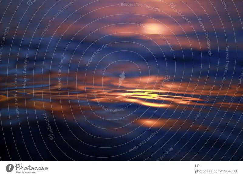 Sonnenuntergang auf der Meeresoberfläche Lifestyle Wellness Leben harmonisch Wohlgefühl Zufriedenheit Sinnesorgane Erholung ruhig Ferien & Urlaub & Reisen