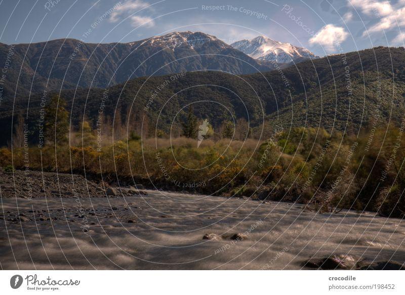 New Zealand XXXVIII Umwelt Natur Landschaft Erde Wasser Himmel Wolken Klima Wetter Schönes Wetter Pflanze Wald Hügel Felsen Alpen Berge u. Gebirge