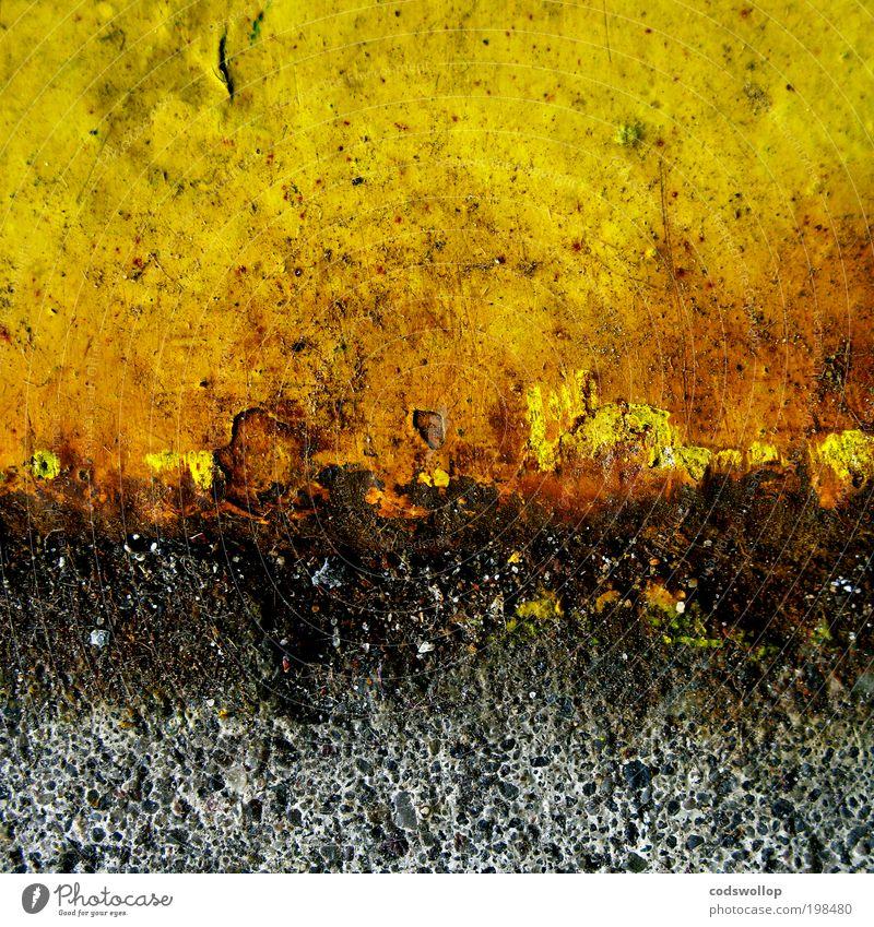 spaltenausbruch schwarz gelb grau Stein Erde Feuer gefährlich bedrohlich Wandel & Veränderung abstrakt heiß Berge u. Gebirge Urelemente chaotisch Desaster