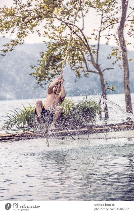 FF# Am Ende der Welt Kunst ästhetisch Seil Seilspringen Liane Freude spaßig Spaßvogel Spaßgesellschaft Wasser Jugendliche Jugendkultur toben