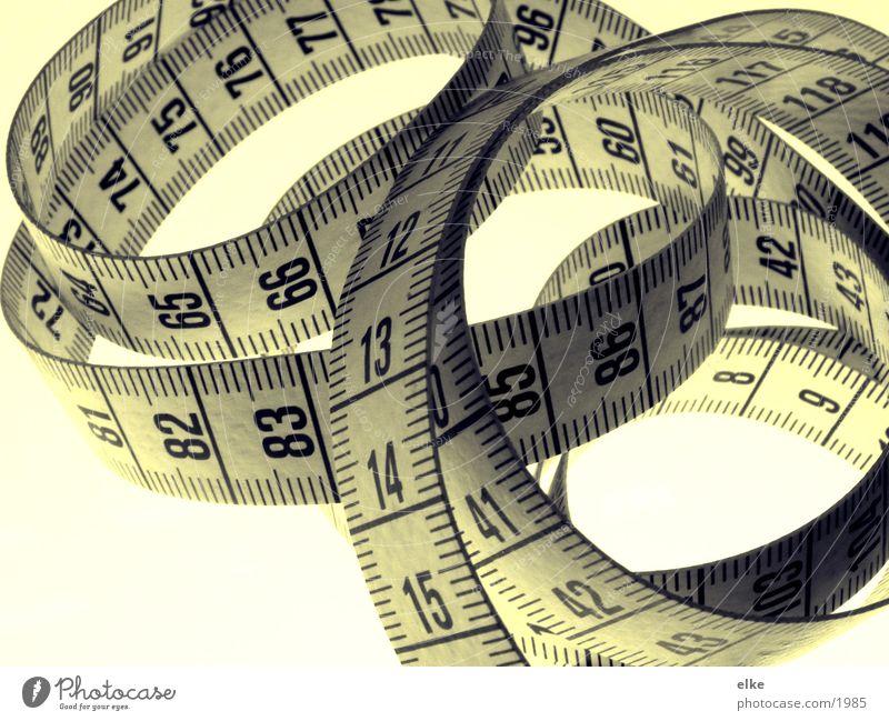 alles ist messbar Ferne Ziffern & Zahlen Dinge Handwerk Größe Maßband Ausmaß