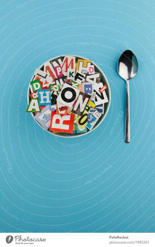 #AS# Buchstabensuppe schön Essen Lifestyle Kunst Design ästhetisch Kreativität lecker viele Kitsch trendy Typographie Kunstwerk Löffel gestalten