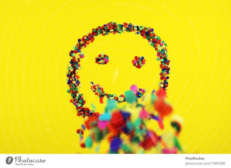 #S# Lächle bunt 2 Freude Kunst Kunstwerk Gefühle Glück Fröhlichkeit Frühlingsgefühle gelb lachen mehrfarbig Punkt Konfetti Smiley Regen Auge Mund positiv