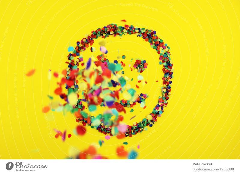 #S# Lächle bunt 3 Freude Kunst Kunstwerk Gefühle Glück Fröhlichkeit Frühlingsgefühle lachen mehrfarbig Punkt Konfetti Smiley Regen Auge Mund positiv grinsen