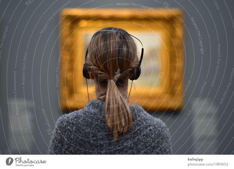 für die sinne Mensch Frau Erwachsene feminin Stil Kunst Haare & Frisuren grau Kopf Freizeit & Hobby elegant genießen lernen Gold Bildung Gemälde