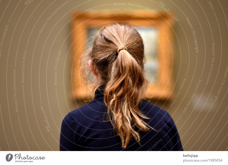 bilder in deinem kopf Freizeit & Hobby Raum Kindererziehung Bildung Schule lernen Bildungsreise feminin Mädchen Kopf Haare & Frisuren 1 Mensch Blick Ausstellung