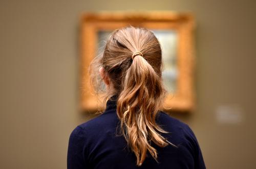 bilder in deinem kopf Mensch Kind Mädchen feminin Kunst Haare & Frisuren Schule Kopf Freizeit & Hobby Raum Kultur lernen entdecken Bildung Gemälde Museum
