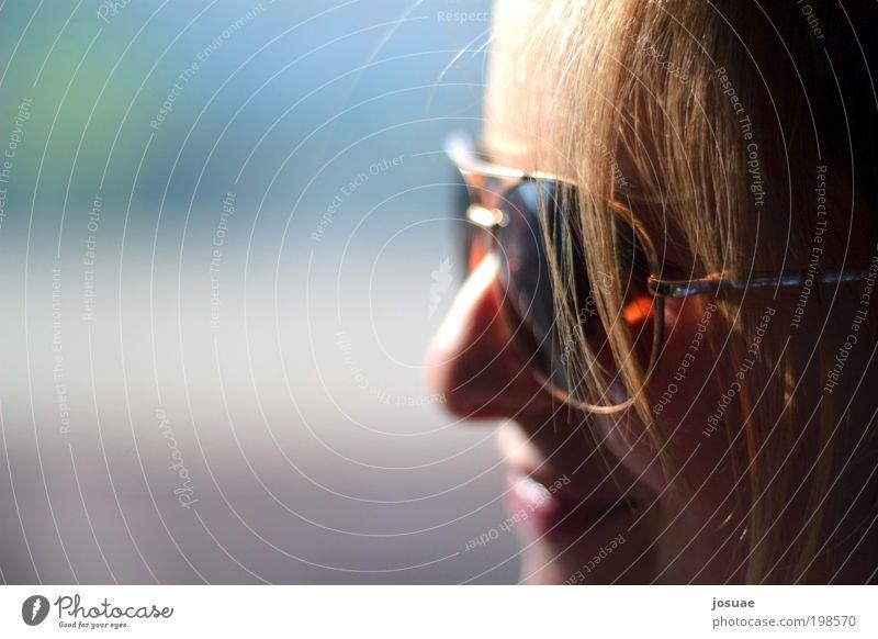 Frühlingslächeln Jugendliche schön Sonne Gesicht Erwachsene feminin Haare & Frisuren Glück Zufriedenheit Freizeit & Hobby Fröhlichkeit leuchten 18-30 Jahre