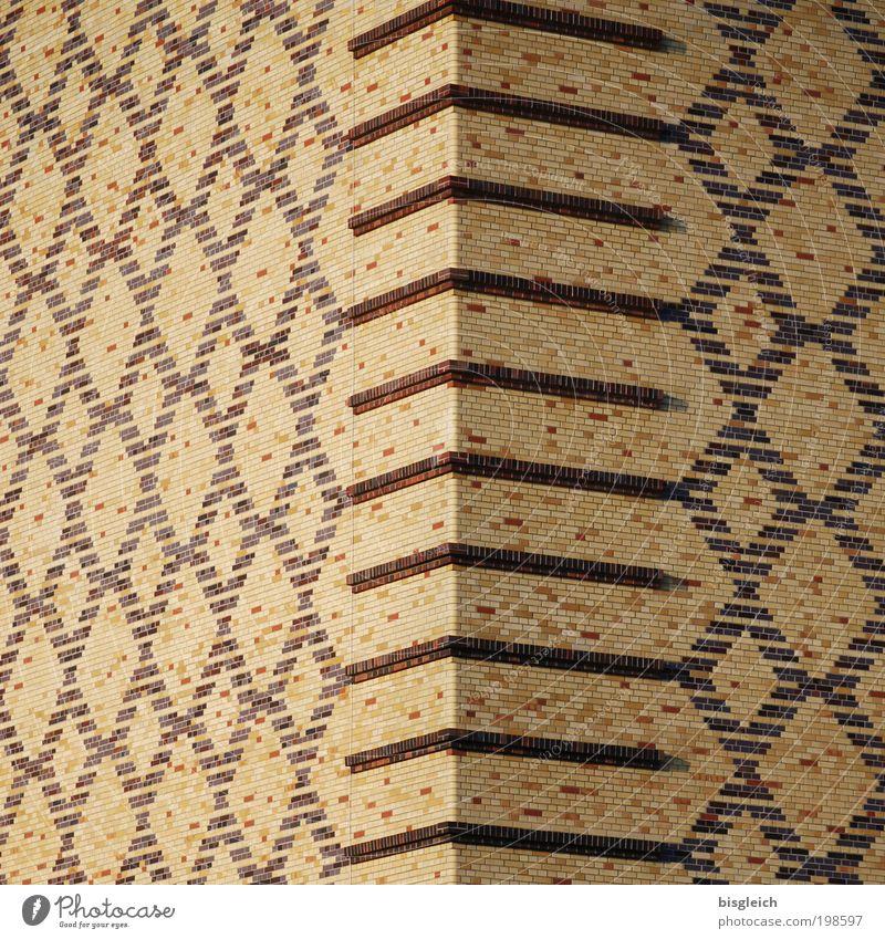 Um die Ecke ... Wand Stein Mauer braun fleißig Mosaik Ordnungsliebe