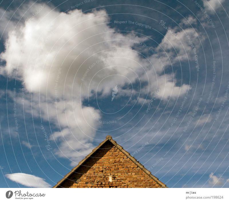 Mir qualmt der Kopf! Himmel schön Sommer Wolken Haus Umwelt Architektur Gebäude Luft Kraft Freizeit & Hobby Energiewirtschaft Klima ästhetisch Zukunft Baustelle