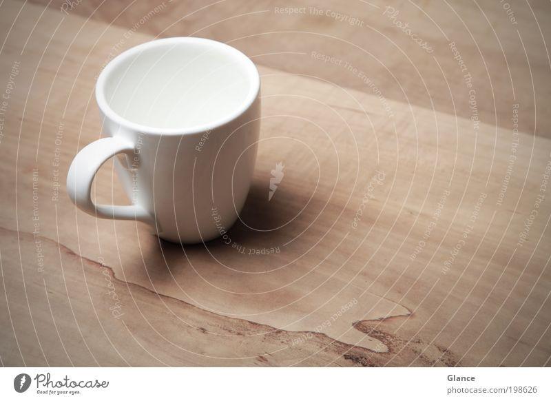 Wo bleibt der Tee weiß ruhig braun Design Zufriedenheit elegant ästhetisch Sauberkeit Getränk Kaffee trocken Gastronomie Tasse Kaffeetrinken Heißgetränk