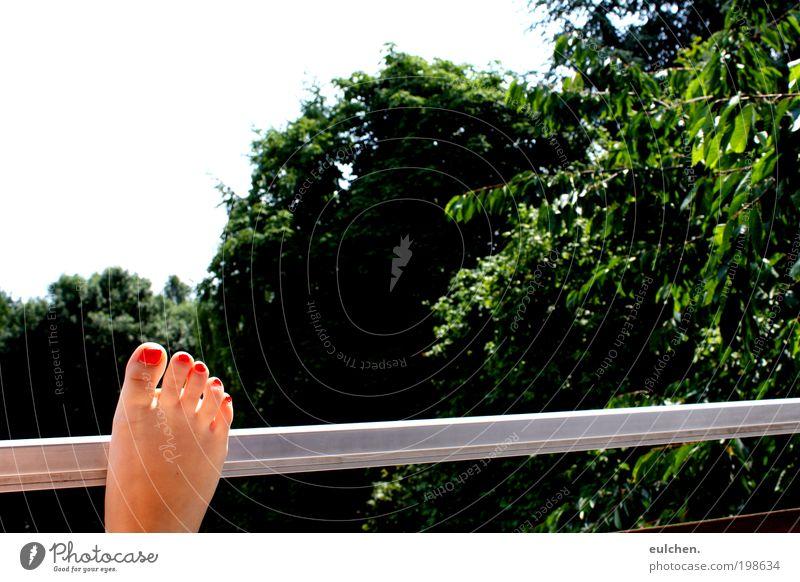 Füße und so. Sommer Farbe Fuß Zufriedenheit Schönes Wetter Sinnesorgane Mensch Natur