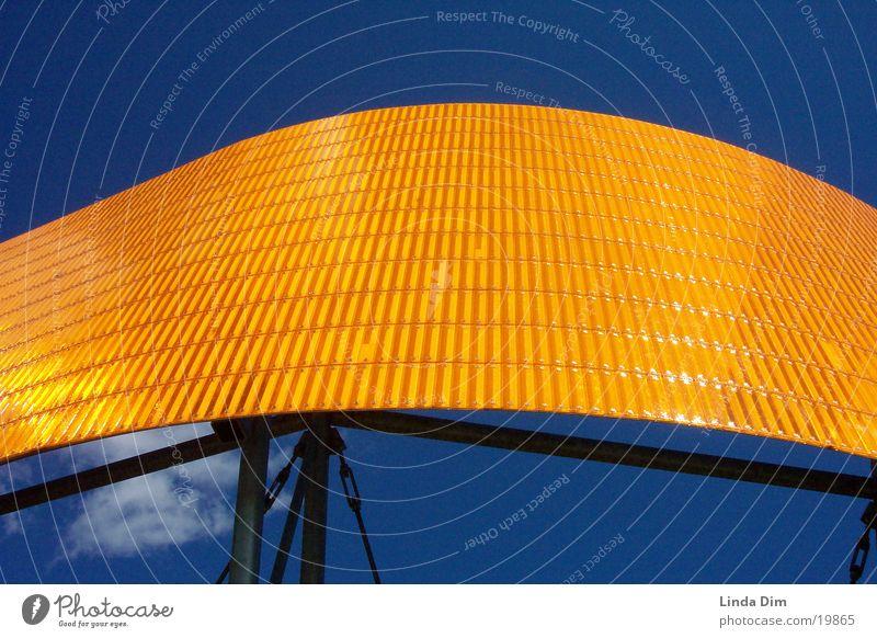 Orange-Blue 01 blau orange Kunst Industrie Dinge Denkmal Skulptur Reflektor
