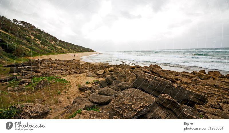 Himmel Ozean Isimagaliso Reserve Natur und Felsen schön Ferien & Urlaub & Reisen Strand Meer Landschaft Pflanze Sand Klima Moos Küste Wege & Pfade schwarz weiß
