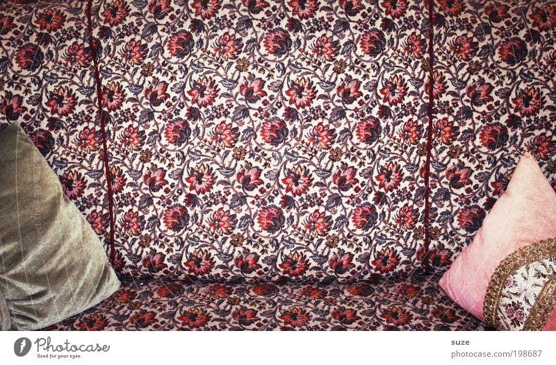 Kissenbeziehung Stil Design Wohnung Dekoration & Verzierung Möbel Sofa Sammlerstück Stickereien alt rosa Vergangenheit Kostbarkeit Samt Barock altmodisch