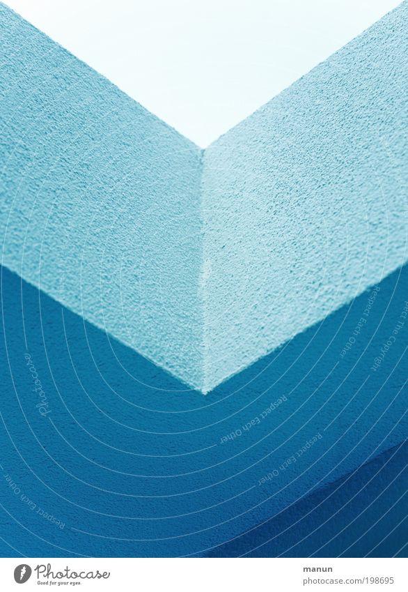 optisch angetäuscht Lifestyle elegant Stil Design Innenarchitektur eckig blau Linie ästhetisch trendy Sauberkeit graphisch richtungweisend Pfeil abwärts