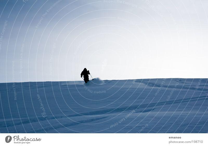 kurzschwinger Mensch Natur Ferien & Urlaub & Reisen Winter Freude Schnee Sport Landschaft Freiheit Berge u. Gebirge Freizeit & Hobby Ausflug wandern Skifahren fahren Alpen