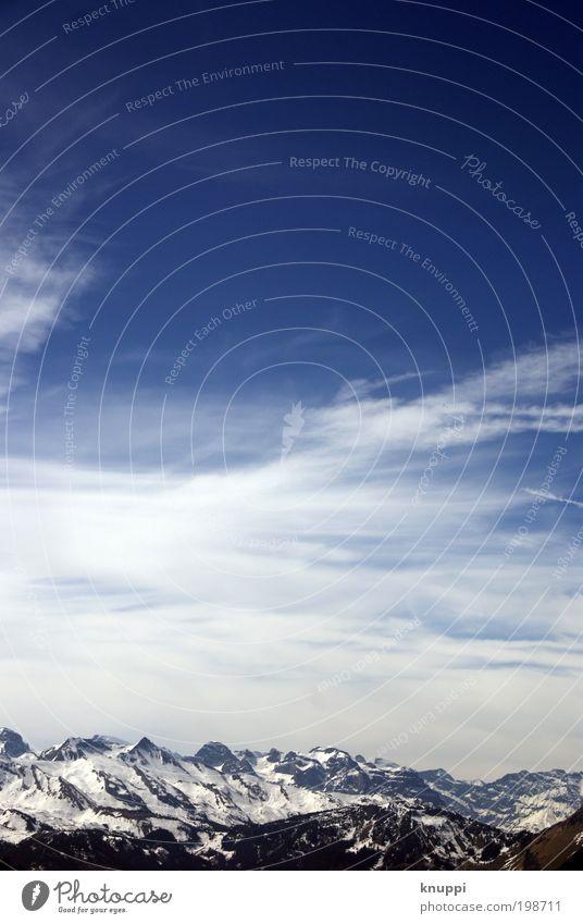 Weitblick Himmel Natur Ferien & Urlaub & Reisen Sonne Landschaft Wolken Winter Umwelt Ferne Berge u. Gebirge Schnee Freiheit Luft Eis Wetter Nebel