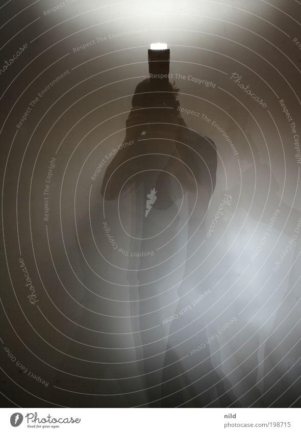 Die Fotomaschine (nachtrag) Mensch Erwachsene dunkel Bewegung Nebel maskulin Lifestyle Fotokamera 18-30 Jahre Doppelbelichtung Fotograf Künstler Fotografieren