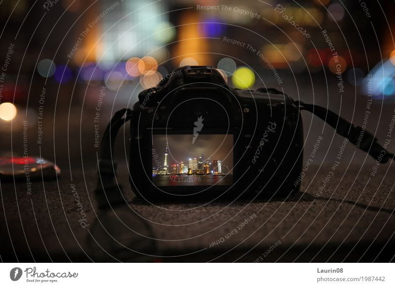 The Bund in Shanghai / Camera capture Design Freizeit & Hobby Fotografie Ferien & Urlaub & Reisen Tourismus Ferne Sightseeing Städtereise Nachtleben Bildschirm