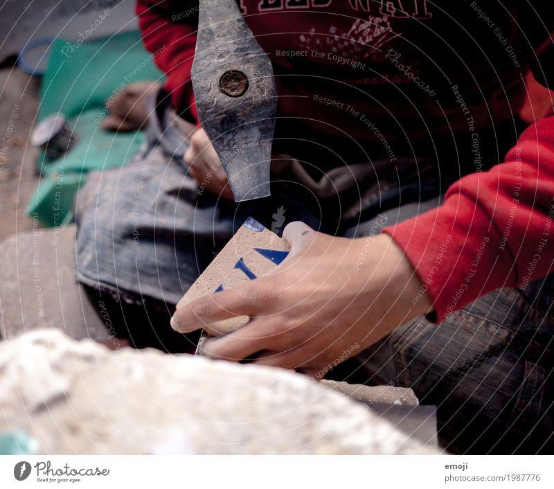 Handwerk Arbeit & Erwerbstätigkeit Kreativität Beruf Konzentration Hammer Keramik Keramikherstellung