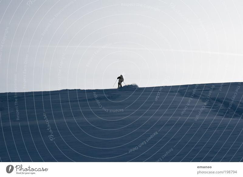 powdergun Mensch Natur Ferien & Urlaub & Reisen Landschaft Ferne Winter kalt Berge u. Gebirge Schnee Sport Freiheit Horizont wandern Ausflug Klima Abenteuer