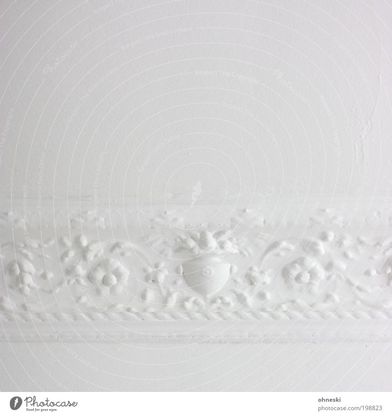 Ornament (400) Häusliches Leben Wohnung Innenarchitektur Dekoration & Verzierung Raum Stuckdecke Handwerker Anstreicher Maler alt hell retro weiß ästhetisch