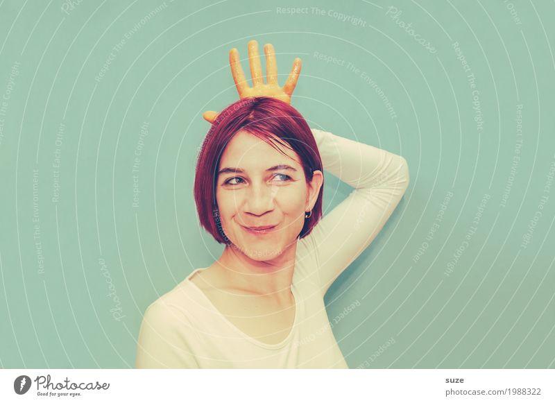 Emotion | Sei kein Frosch! Lifestyle Reichtum Stil Glück schön Gesicht Maniküre Mensch feminin Junge Frau Jugendliche Erwachsene Hand 30-45 Jahre Mode T-Shirt