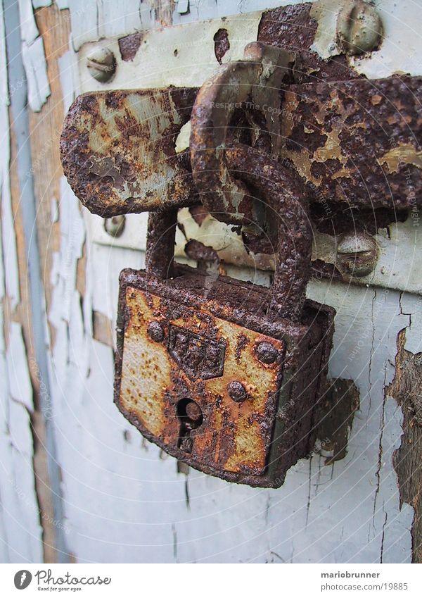 schloss Tür geschlossen Technik & Technologie Burg oder Schloss Rost Elektrisches Gerät