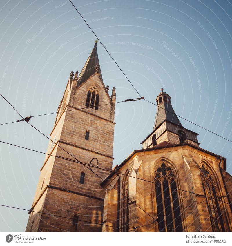 Kaufmannskirche Erfurt I alt Winter Architektur Wärme Religion & Glaube Stein Kirche Bauwerk aufwärts Christentum Gott Orientierung Jubiläum Gottesdienst