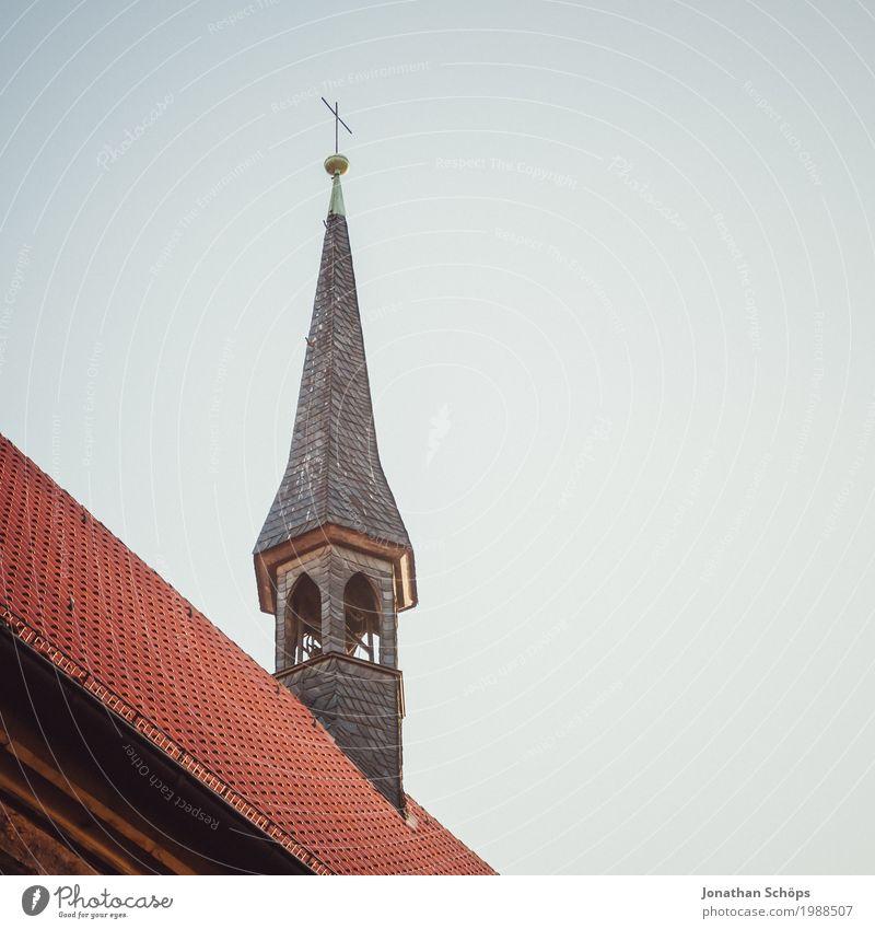 Ursulinenkloster Erfurt III alt Stadt rot Winter Architektur Religion & Glaube Gebäude Fassade Kirche historisch Turm Dach Bauwerk Sehenswürdigkeit Hauptstadt