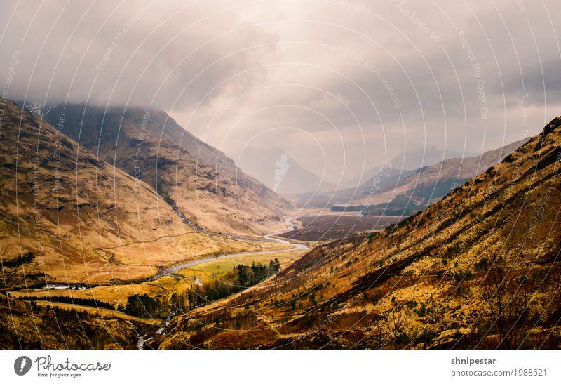 Blick auf Glen Etive, Schottland Natur Ferien & Urlaub & Reisen Pflanze Landschaft Erholung Berge u. Gebirge Umwelt außergewöhnlich Regen wandern Erde Wind