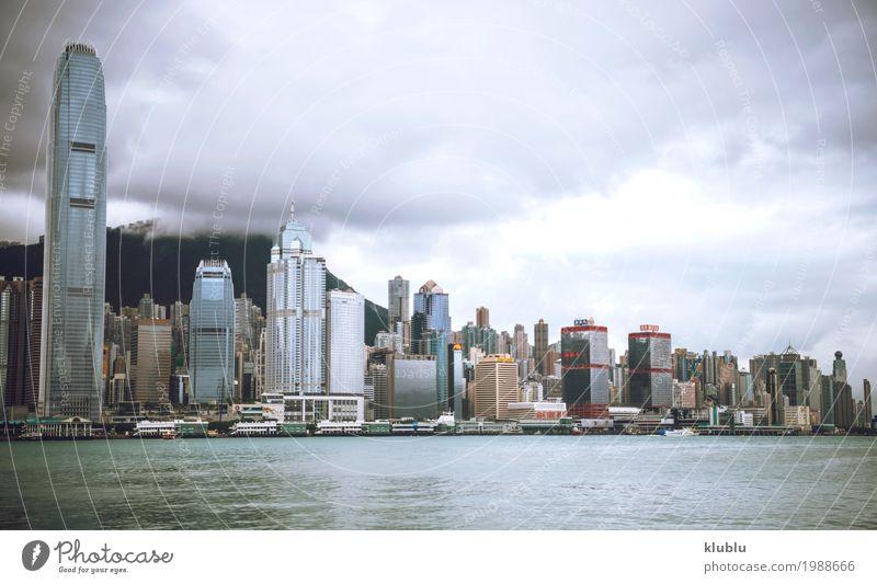 Wolkenkratzer unter schwermütigem Himmel Ferien & Urlaub & Reisen Landschaft Haus Architektur Leben Bewegung Gebäude Tourismus Stimmung Textfreiraum Ausflug