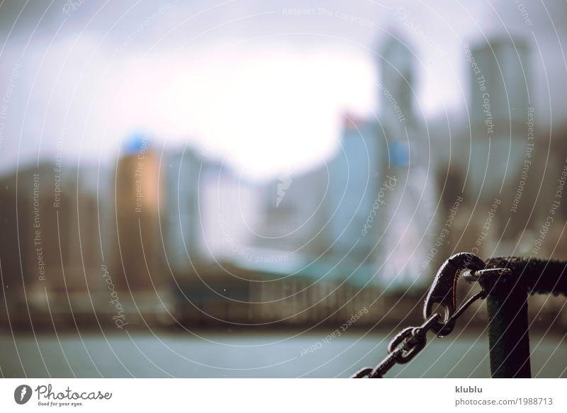 Die Wolkenkratzer von Hong Kong Himmel Ferien & Urlaub & Reisen Landschaft Haus Architektur Leben Bewegung Gebäude Tourismus Wasserfahrzeug Textfreiraum Ausflug