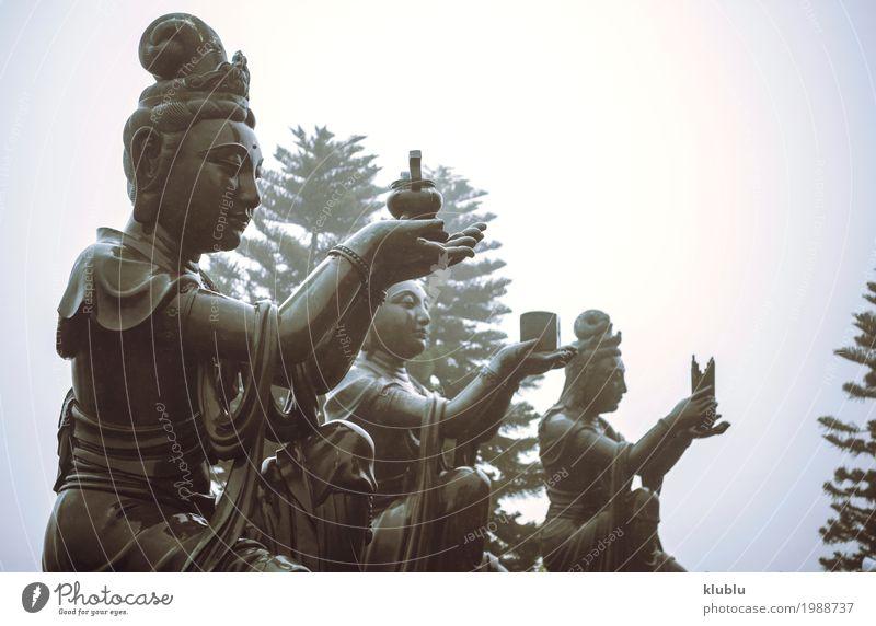 Verschiedene Tempelstatuen Meditation Kunst Kultur Architektur alt groß Religion & Glaube beten Statue Figur Buddha Himmelstempel Buddhismus Asien antik