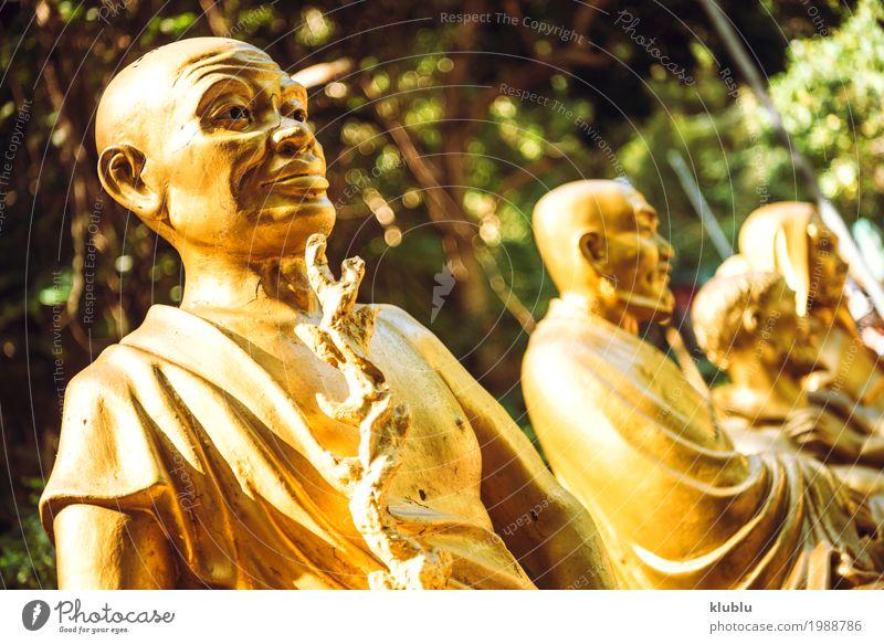 Tempel 1000 Buddhas in Hong Kong. schön Gesicht Ferien & Urlaub & Reisen Tourismus Dekoration & Verzierung Kunst Kultur Architektur Denkmal Straße Wege & Pfade