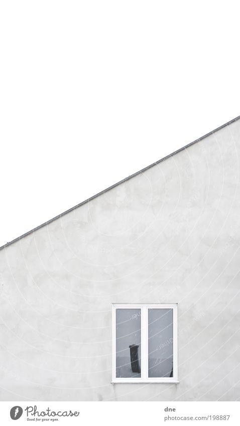Distorted Reality blau kalt Fenster grau Fassade Dach Sauberkeit gleich