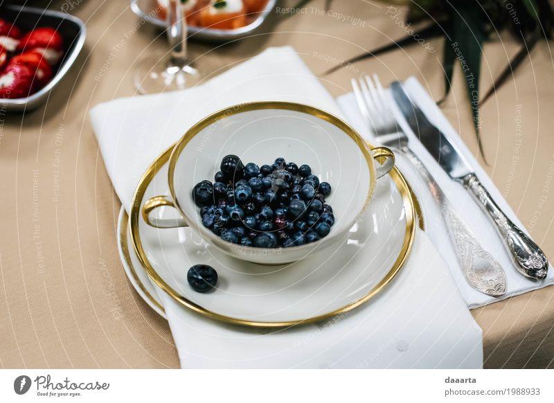 Blaubeer-Tasse Lebensmittel Dessert Blaubeeren Getränk Becher Lifestyle elegant Stil Design Freude harmonisch Ausflug Abenteuer Freiheit Traumhaus