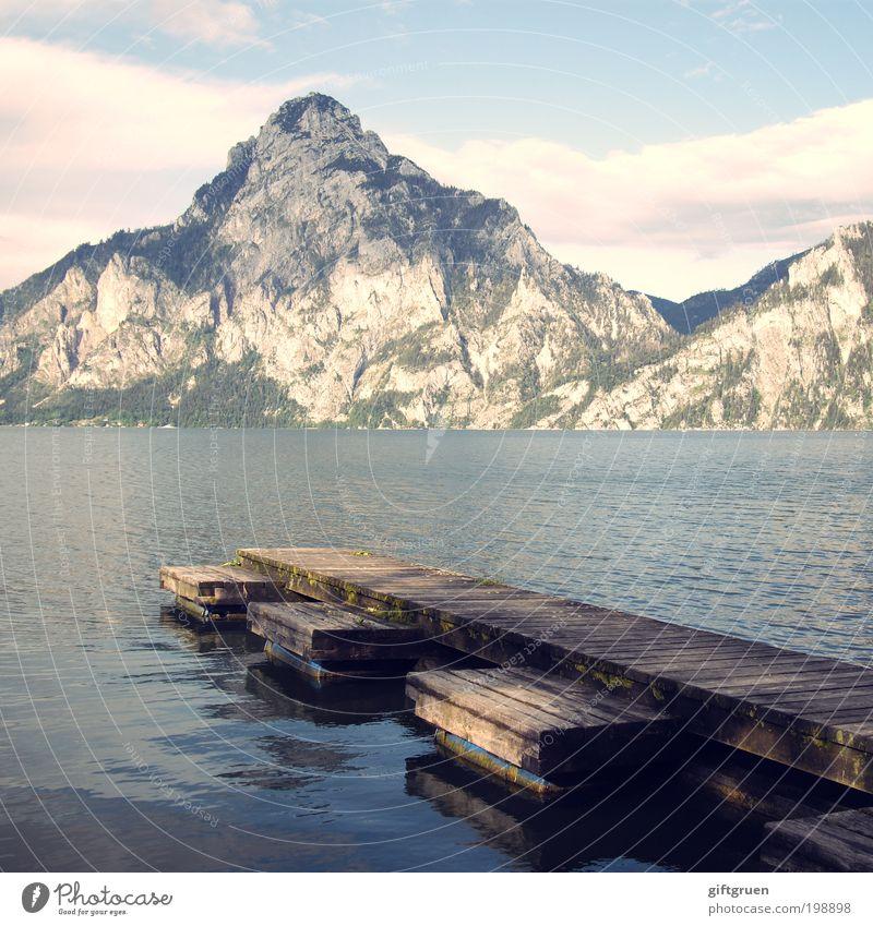 sommertag Natur Wasser Himmel Sonne Sommer Ferien & Urlaub & Reisen Wolken Berge u. Gebirge See Landschaft Umwelt groß Ausflug Tourismus Klettern